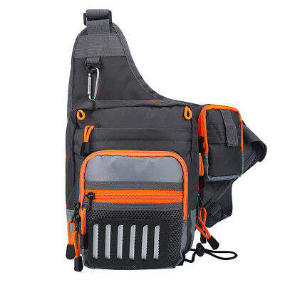 Fly Fishing Tackle Bag Chest Bag Waist Pack Sling Shoulder Pouch Accessories BT