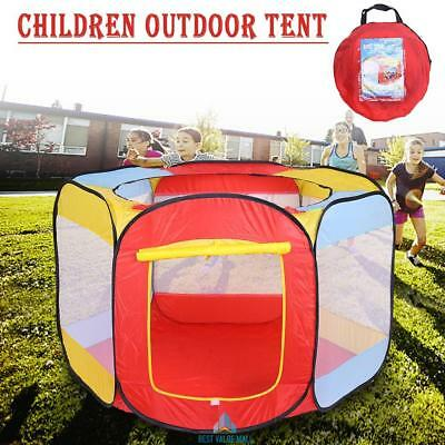 Portable Kids Ball Pit Indoor Outdoor Play Tent Playpen Ball Pit Pool Folding UK & LINDAM Hexagonal Metal Playpen with Soft Mat - £30.00 | PicClick UK