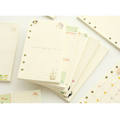A5/A6 Month Week Ruled Colourful Planner Diary Insert Refill Notebook Organiser