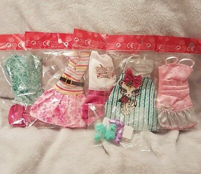 Barbie doll new outfits lot x5 and x2 pairs of shoes      lot 10