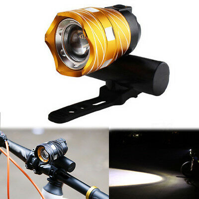 350lm LED XML T6 Bicycle MTB Bike Headlight Rear Night Light USB Rechargeable HE