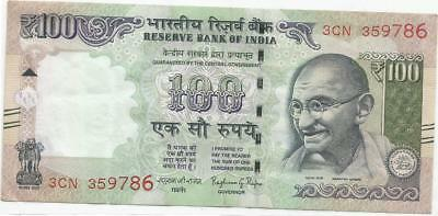 Rupees 100 indian note with no. 786