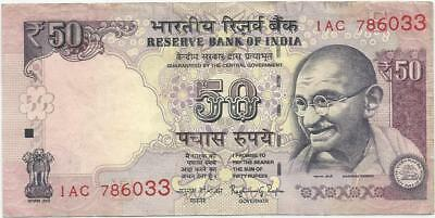 Rupees 50 indian note with no. 786