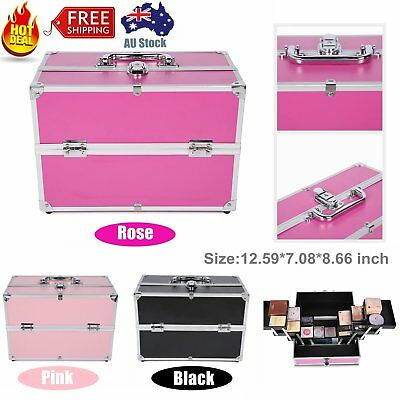 Professional Makeup Carry Case Cosmetic Box Make up Professional Portable Chic