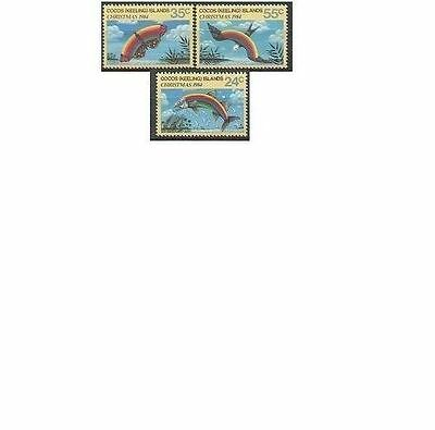 Cocos Islands 1984 CHRISTMAS (3), Unhinged Mint SG 122-4