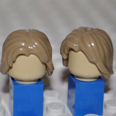 Lego Parts - Bright Dark Blonde Hair Piece/minifigure Wig/mid-Length Tousled V