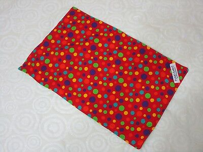 Baby changing mat 100% cotton,handmade-Red,dots.