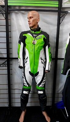 Texport Kawasaki Leather Race Suit 1 Piece