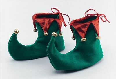 Xmas Elf Shoes Boot Christmas Fancy Dress Costume Novelty Accessories