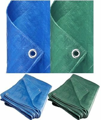 ULTRA Heavy Duty Tarpaulin Waterproof Strong Cover Ground Sheet Tarp Rain Shed