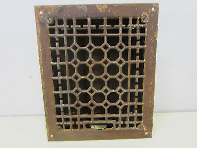 Vintage Cast Iron Honeycomb Style Floor Grate w/Damper   ASG#25