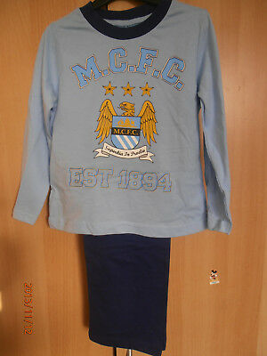 Manchester City Blue Boys Pyjamas Aged  5-6 Years Long Sleeves and Legs