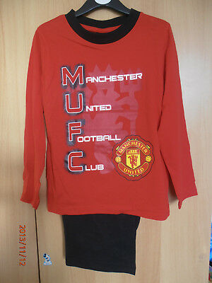 Manchester United F.C. Red Boys Pyjamas Aged 5-6 Years Long Sleeves and Legs