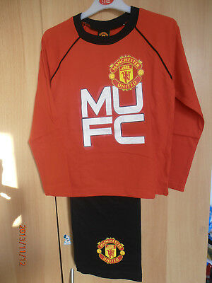 Manchester United Red Boys Pyjamas Aged 5-6 Years Long Sleeves and Legs MUFC