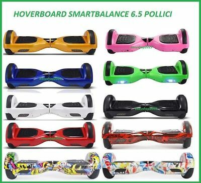 Hoverboard Luci Led Speaker E Bluetooth Scooter Overboard 10 Colori 6,5""
