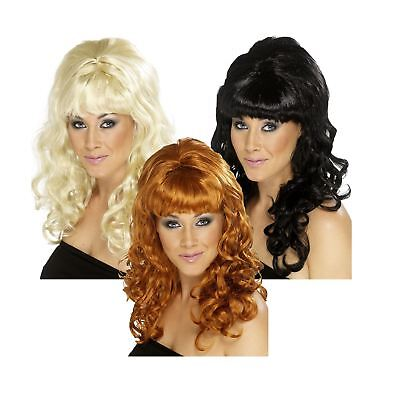 Ladies 1960s Beehive Beauty Diva Wig Retro Fancy Dress Hen Do Amy Accessory New