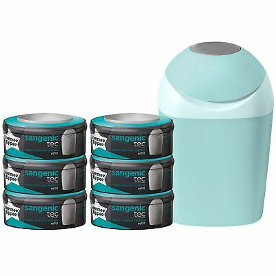 Tommee Tippee Sangenic Tec Nappy Disposal Starter Pack with 6 Cassettes - Green
