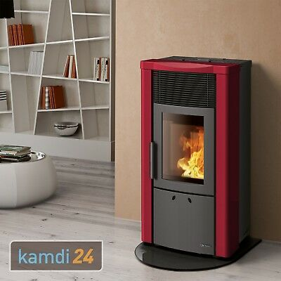 extraflame dalzotto noemi pelletofen stahl rubino 11 1 kw kamin f r pellets eur. Black Bedroom Furniture Sets. Home Design Ideas