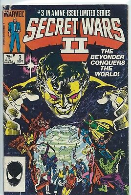 Marvel Secret Wars Ii- Sept, 1985 #3 The Beyonder Conquers -  Protective Cover