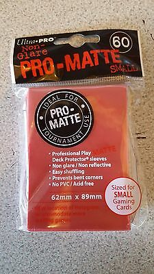 Ultra Pro PRO-MATTE - Small Deck Protectors - Yu-Gi-Oh Cardfight Japanese red