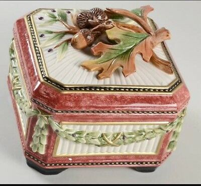 Fitz & Floyd EQUESTRIAN Large Square Covered Box & Lid-In original box