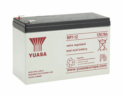 Yuasa NP7-12 (12V 7Ah), General Purpose VRLA Lead Acid Rechargeable Battery