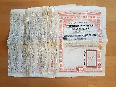 Lot Of 20 Chinese Bonds 5% 1903