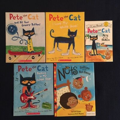 Lot of 5 Children's Picture Books James Dean & Eric Litwin: Pete the Cat Series