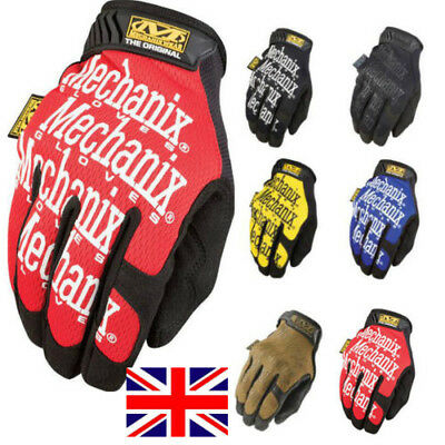 Mechanix Wear Tactical Original Gloves Airsoft Work Wear Shooting Covert Black