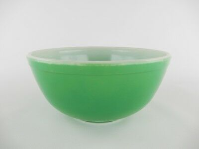 Vintage Pyrex Green Mixing Bowl OLDER BOWL Thicker Glass