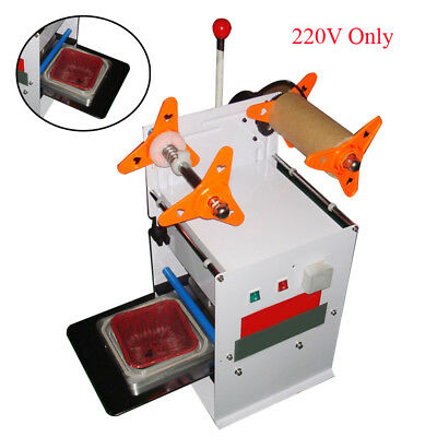 Semi-Automatic Square Food Tray Box Cup Sealing Machine ICComputer ControlSwitch