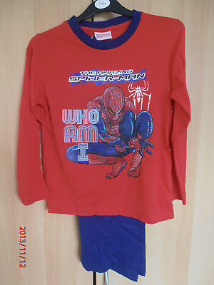 Spiderman ( Who am I ) Boys Pyjamas Aged 7-8 Years Long Sleeves and Legs