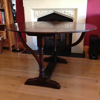 Titchmarsh And Goodwill  Drop Leaf Table Dinning Oak Oval Top 17th Century Style