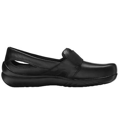 Klogs Bria Womens Leather Clogs Display Model Shoes Black 6 M