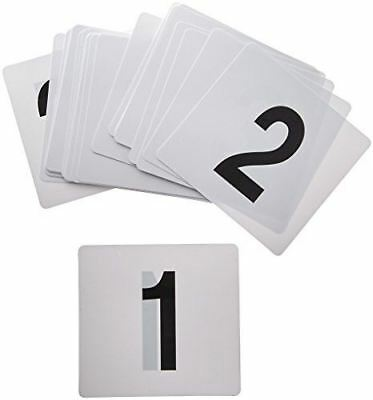Winco TBN-25 1-25 Plastic Table Numbers