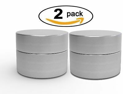 2 Mini Herb Container Airtight Smell Proof Aluminum Stash Jar Weed Bud Storage