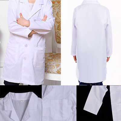 Child Kids Students Lab Coat Doctor Scientist School Performance Costume White