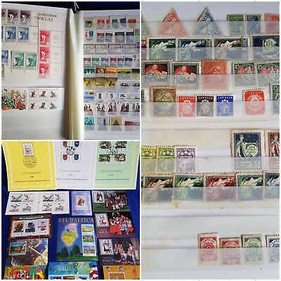 LATVIJA LIETUVA ESTONIJA EESTI Fantastic Collection MNH MH Used Classic to New