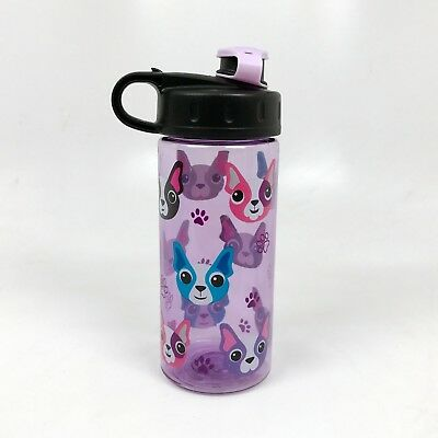 Cool Gear Purple Boston Terrier French Bulldog Water Bottle