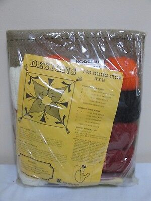 "Vintage Rug Crafters #p-636 *florence* Pillow Kit 16"" X 16""  New Sealed Package"