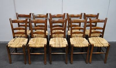Amazing Set Of 10 French Style Rush Seat * Country Dining Chairs