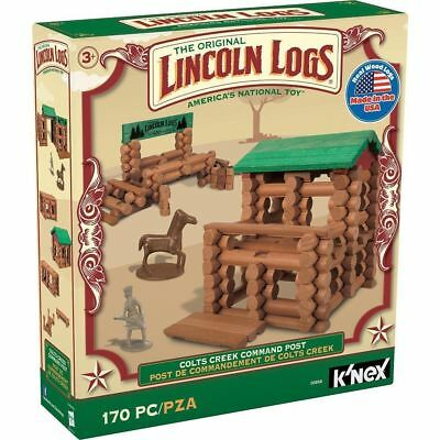 Lincoln Logs 170 Pieces Original Real Wood Toy K'NEX Colts Creek Command Post
