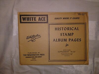 WHITE ACE Historical Stamp Album Pages US Supplement PB-33 for 1981 commemorativ