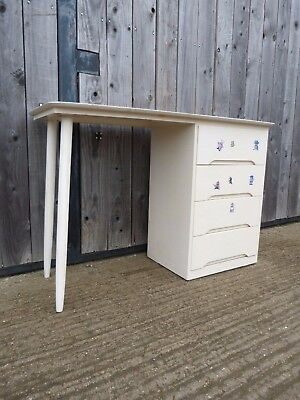 Vintage dressing table desk mid century with drawers refurb