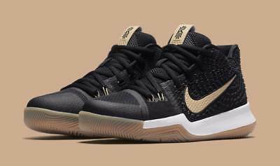 Brand New Nike Kyrie 3 III GS Badge of Honor Black Brown 859466-092 Size 7 Youth