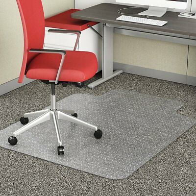 NEW 2mm Hard Floor Office Work Chair Mat Thick Vinyl Plastic Chairmat 12x9cm WE
