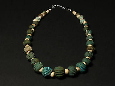 Egyptian Melon Bead Necklace