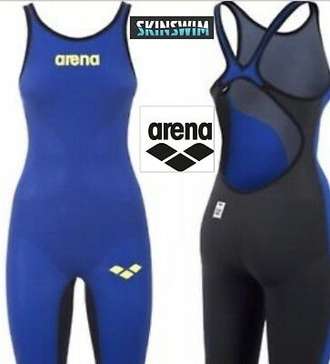 arena carbon air open back electric blue size 12 and UK 34
