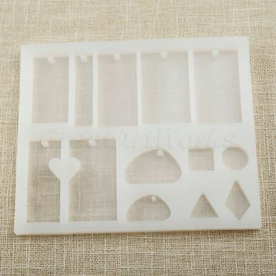 14.5x12.2x1.1cm Silicone Geometry Mold Making Jewelry Pendant Resin Cast Mould