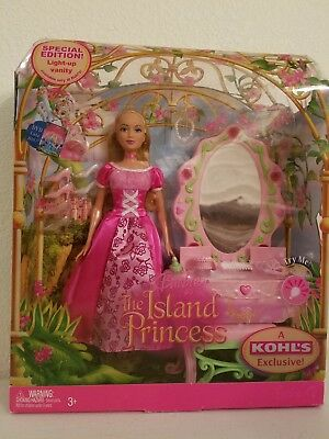 Rare~Barbie The Island Princess **special Edition** With Light Up Vanity L@@k